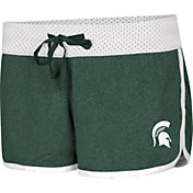 Colosseum Women's Michigan State Spartans Green/White Racine Belles Reversible Shorts