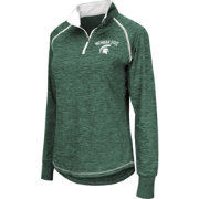 Colosseum Women's Michigan State Spartans Green Bikram Quarter-Zip Top