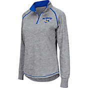 Colosseum Women's McNeese State Cowboys Grey Bikram Quarter-Zip Top