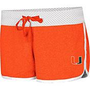Colosseum Women's Miami Hurricanes Orange/White Racine Belles Reversible Shorts