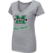 Colosseum Women's Marshall Thundering Herd Grey Dual Blend V-Neck T-Shirt