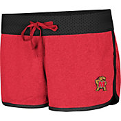 Colosseum Women's Maryland Terrapins Red/Black Racine Belles Reversible Shorts