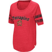 Colosseum Women's Maryland Terrapins Red Bean Babbitt Raglan T-Shirt