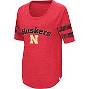 Colosseum Women's Nebraska Cornhuskers Scarlet Bean Babbitt Raglan T-Shirt