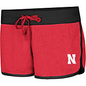 Colosseum Women's Nebraska Cornhuskers Scarlet/Black Racine Belles Reversible Shorts