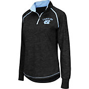 Colosseum Women's North Carolina Tar Heels Black Bikram Quarter-Zip Top