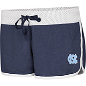 Colosseum Women's North Carolina Tar Heels Carolina Blue/White Racine Belles Reversible Shorts