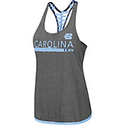 Colosseum Women's North Carolina Tar Heels Grey Kimono Racerback Tank Top