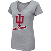 Colosseum Women's Indiana Hoosiers Grey Dual Blend V-Neck T-Shirt
