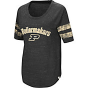 Colosseum Women's Purdue Boilermakers Bean Babbitt Raglan Black T-Shirt