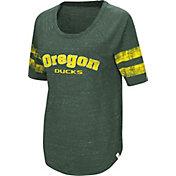 Colosseum Women's Oregon Ducks Green Bean Babbitt Raglan T-Shirt