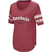 Colosseum Women's Arkansas Razorbacks Cardinal Bean Babbitt Raglan T-Shirt