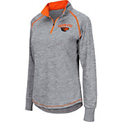 Colosseum Women's Oregon State Beavers Grey Bikram Quarter-Zip Top