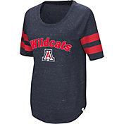 Colosseum Women's Arizona Wildcats Navy Bean Babbitt Raglan T-Shirt