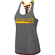 Colosseum Women's Arizona State Sun Devils Grey Kimono Racerback Tank Top