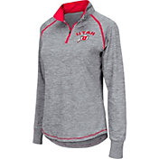Colosseum Women's Utah Utes Grey Bikram Quarter-Zip Top