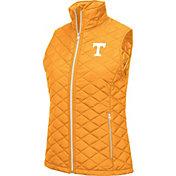 Colosseum Women's Tennessee Volunteers Tennessee Orange Elite Quilted Full-Zip Vest