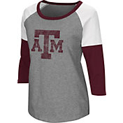 Colosseum Women's Texas A&M Aggies Grey Raglan T-Shirt