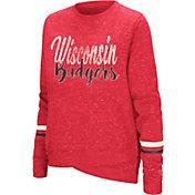 Colosseum Women's Wisconsin Badgers Red Birdie Fleece Pullover