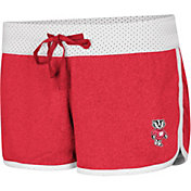 Colosseum Women's Wisconsin Badgers Red/White Racine Belles Reversible Shorts