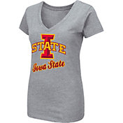 Colosseum Women's Iowa State Cyclones Grey Dual Blend V-Neck T-Shirt