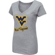 Colosseum Women's West Virginia Mountaineers Grey Dual Blend V-Neck T-Shirt