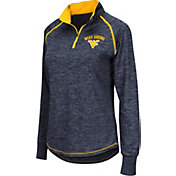 Colosseum Women's West Virginia Mountaineers Blue Bikram Quarter-Zip Top