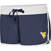Colosseum Women's West Virginia Mountaineers Blue/White Racine Belles Reversible Shorts