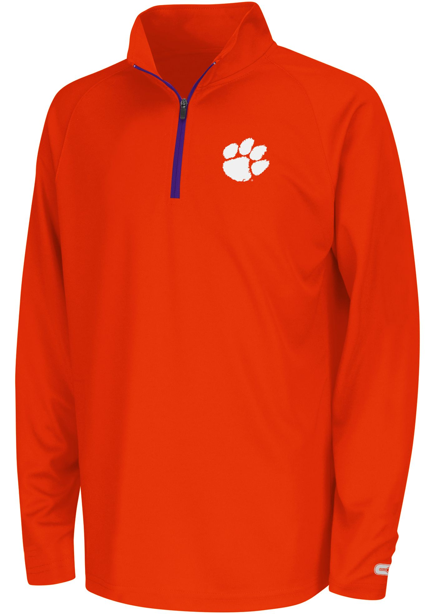 Colosseum Youth Clemson Tigers Orange Draft Performance Quarter-Zip