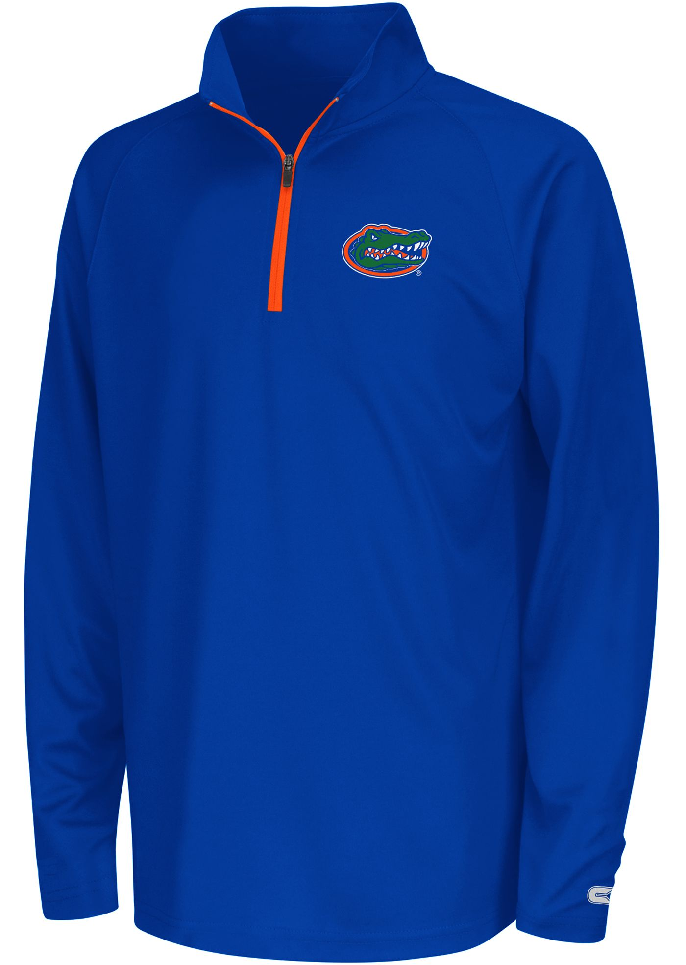 Colosseum Youth Florida Gators Blue Draft Performance Quarter-Zip