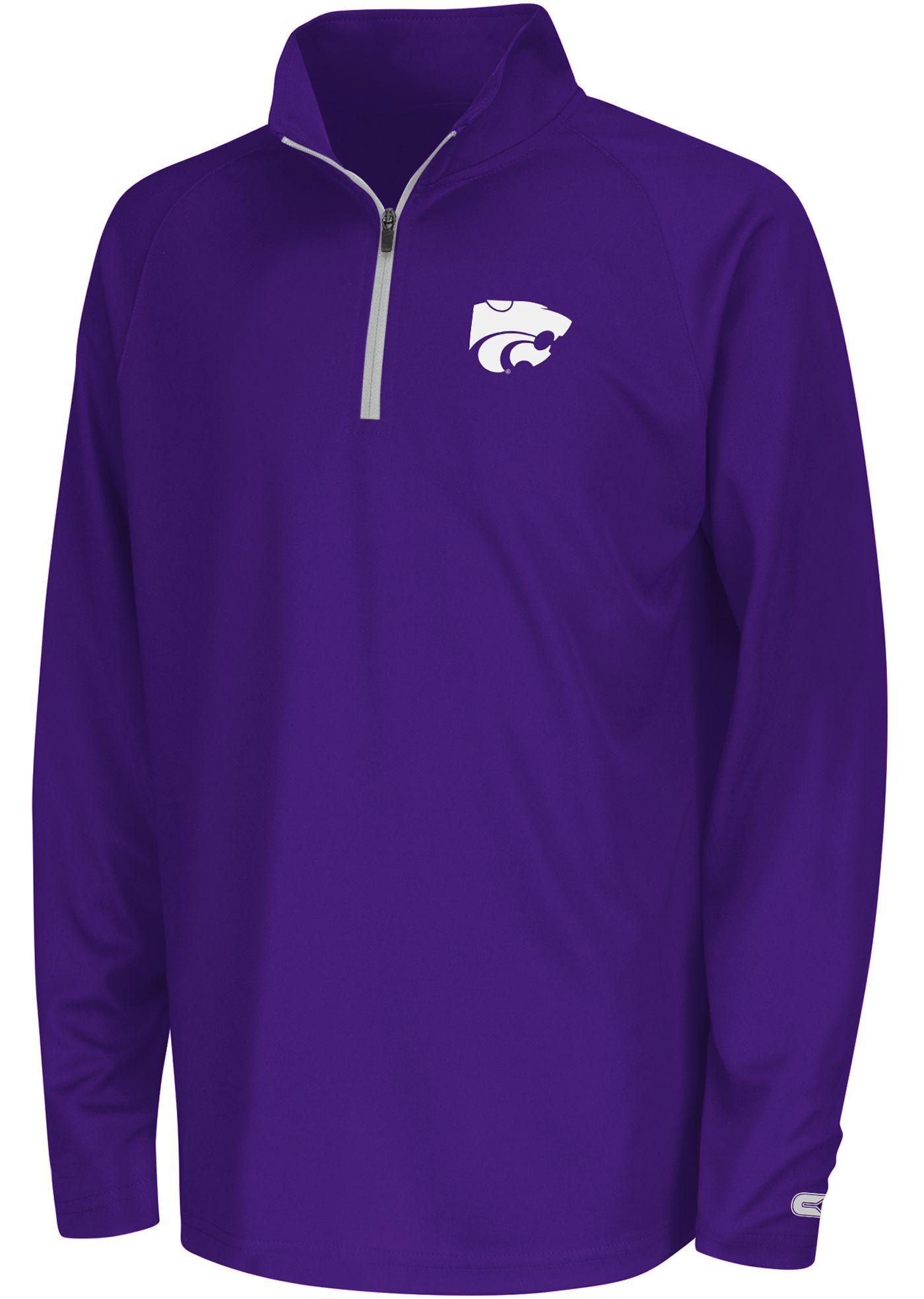 Colosseum Youth Kansas State Wildcats Purple Draft Performance Quarter-Zip
