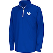 Colosseum Youth Kentucky Wildcats Blue Draft Performance Quarter-Zip