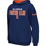 Colosseum Boys' Illinois Fighting Illini Blue Pullover Hoodie