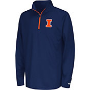 Colosseum Youth Illinois Fighting Illini Blue Draft Performance Quarter-Zip