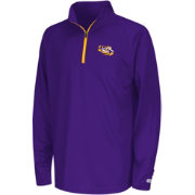 Colosseum Youth LSU Tigers Purple Draft Performance Quarter-Zip