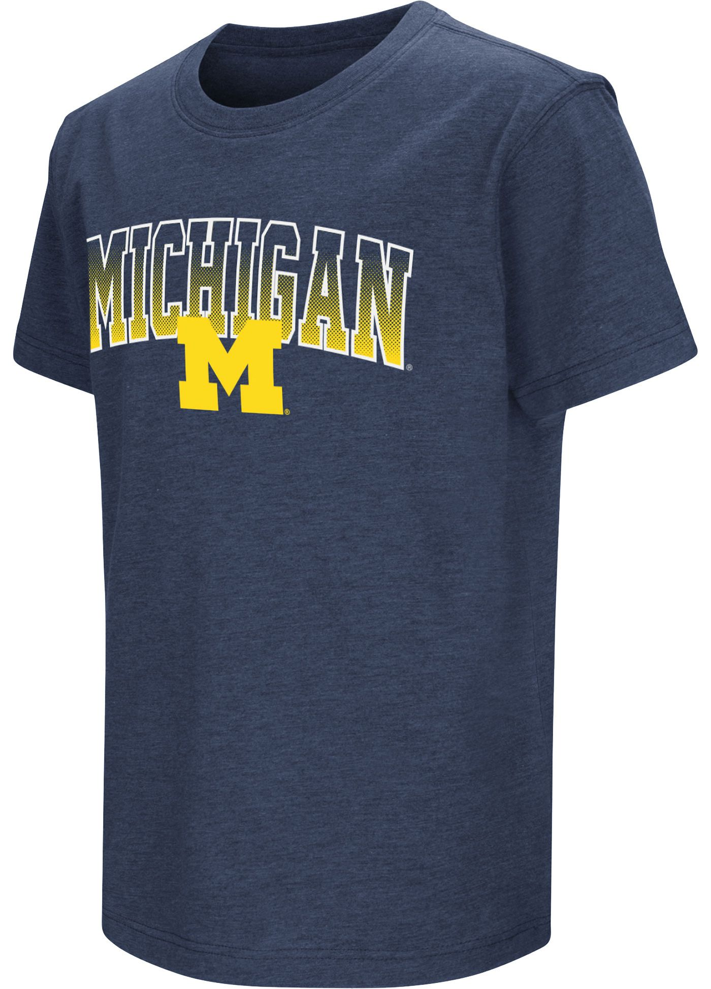Colosseum Youth Michigan Wolverines Blue Dual Blend T-Shirt