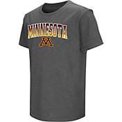 Colosseum Youth Minnesota Golden Gophers Grey  Dual Blend T-Shirt