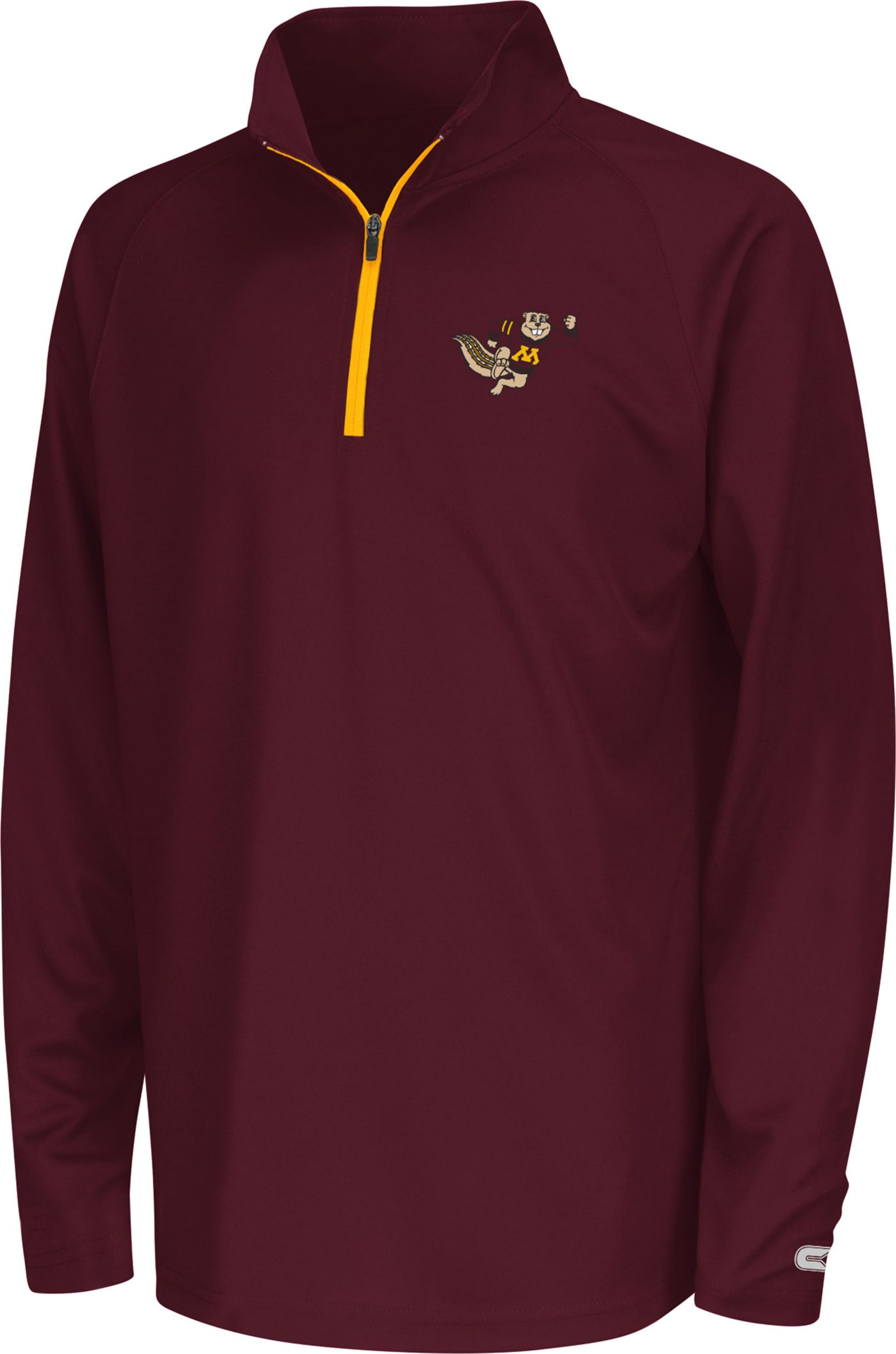 Colosseum Youth Minnesota Golden Gophers Maroon Draft Performance Quarter-Zip