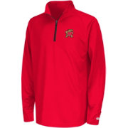 Colosseum Youth Maryland Terrapins Red Draft Performance Quarter-Zip