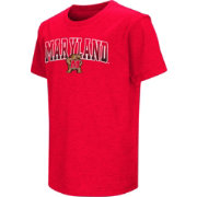 Colosseum Youth Maryland Terrapins Red Dual Blend T-Shirt