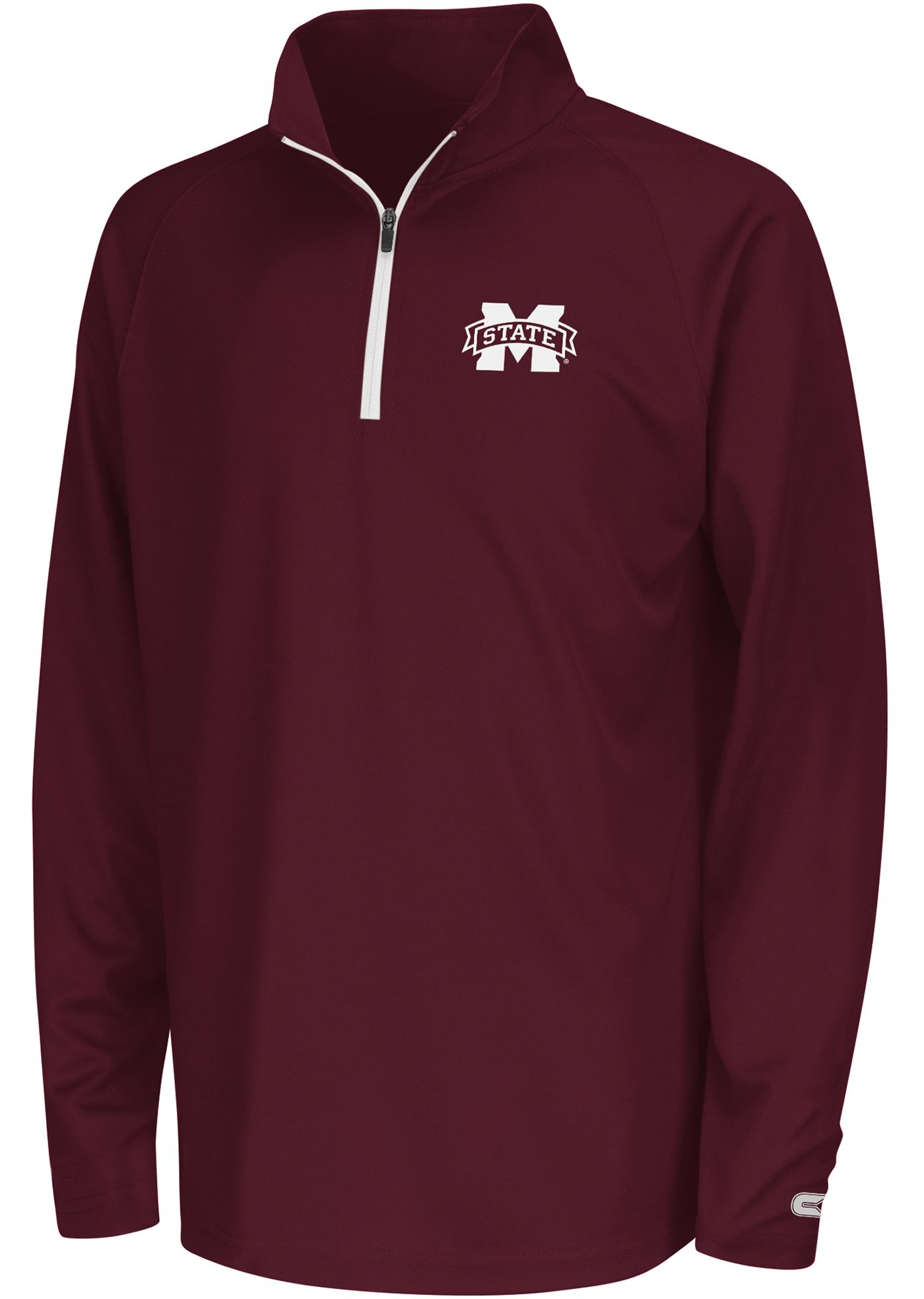 Colosseum Youth Mississippi State Bulldogs Maroon Draft Performance Quarter-Zip