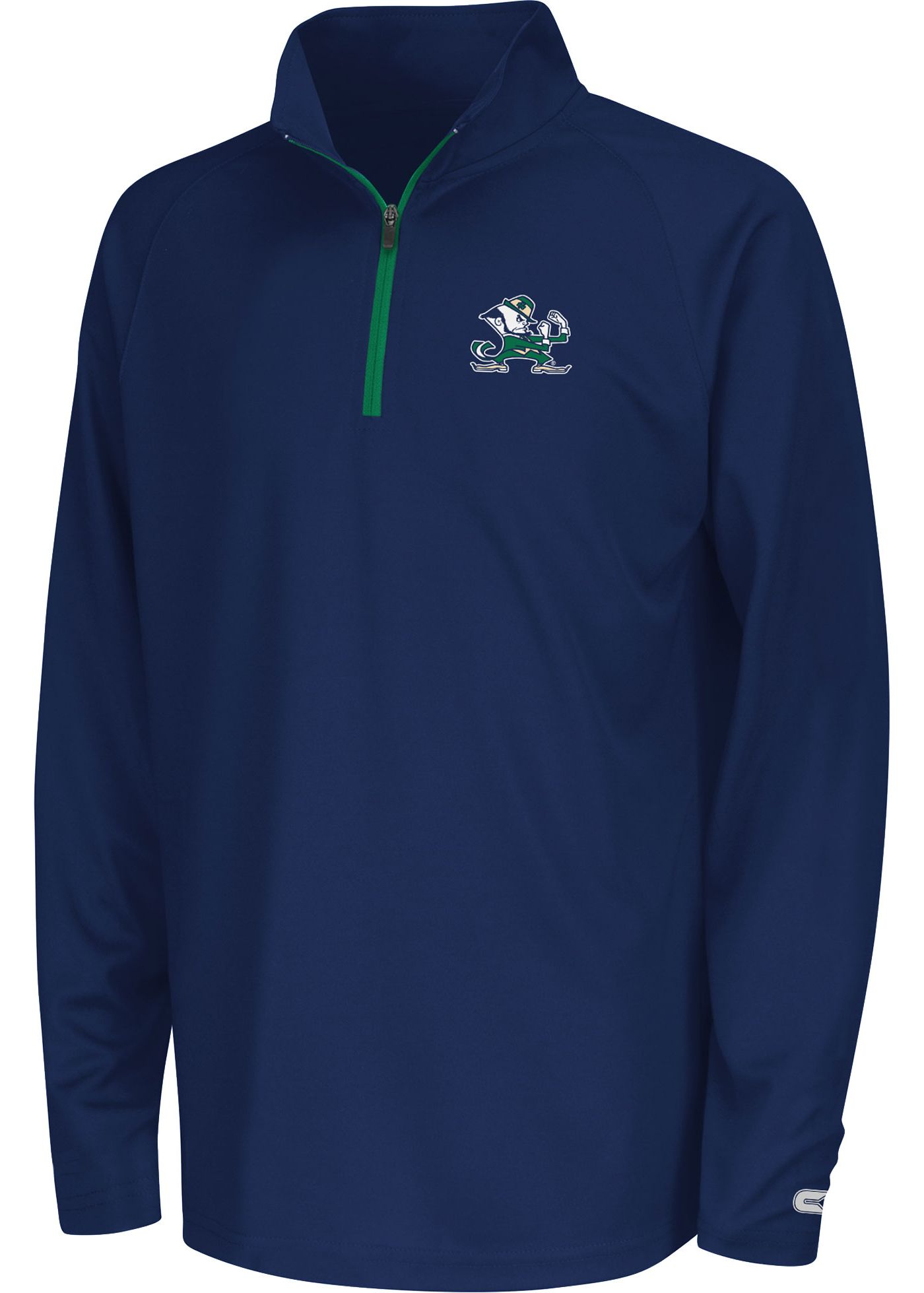 Colosseum Youth Notre Dame Fighting Irish Navy Draft Performance Quarter-Zip