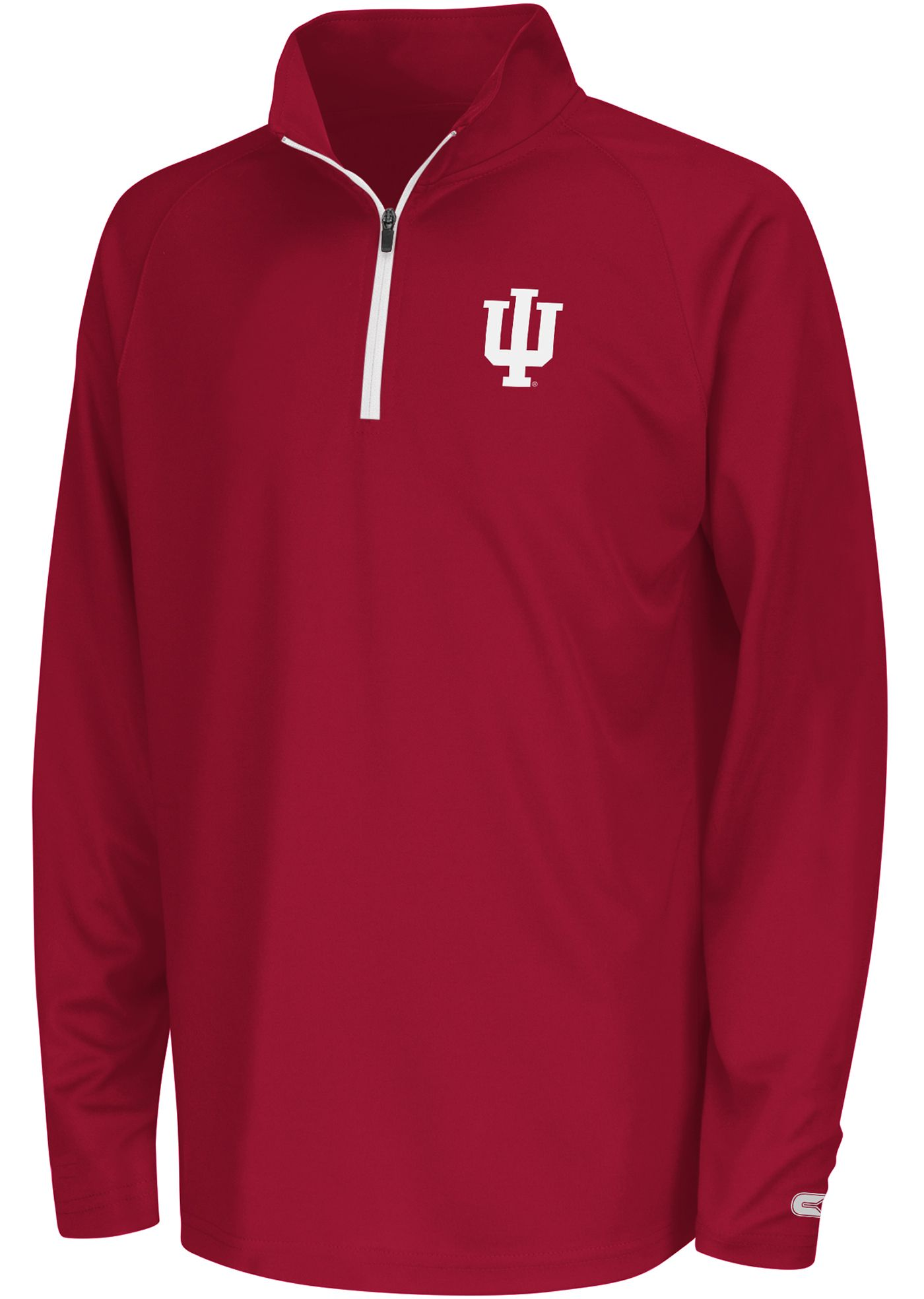 Colosseum Youth Indiana Hoosiers Crimson Draft Performance Quarter-Zip