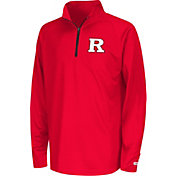 Colosseum Youth Rutgers Scarlet Knights Scarlet Draft Performance Quarter-Zip