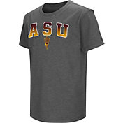 Colosseum Youth Arizona State Sun Devils Grey  Dual Blend T-Shirt