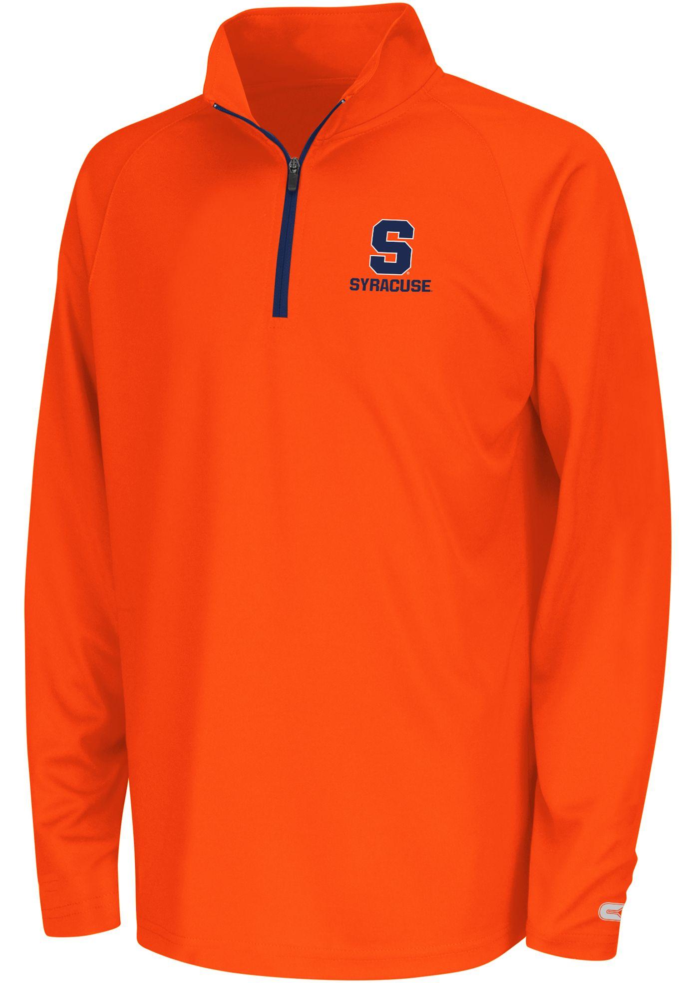 Colosseum Youth Syracuse Orange Orange Draft Performance Quarter-Zip