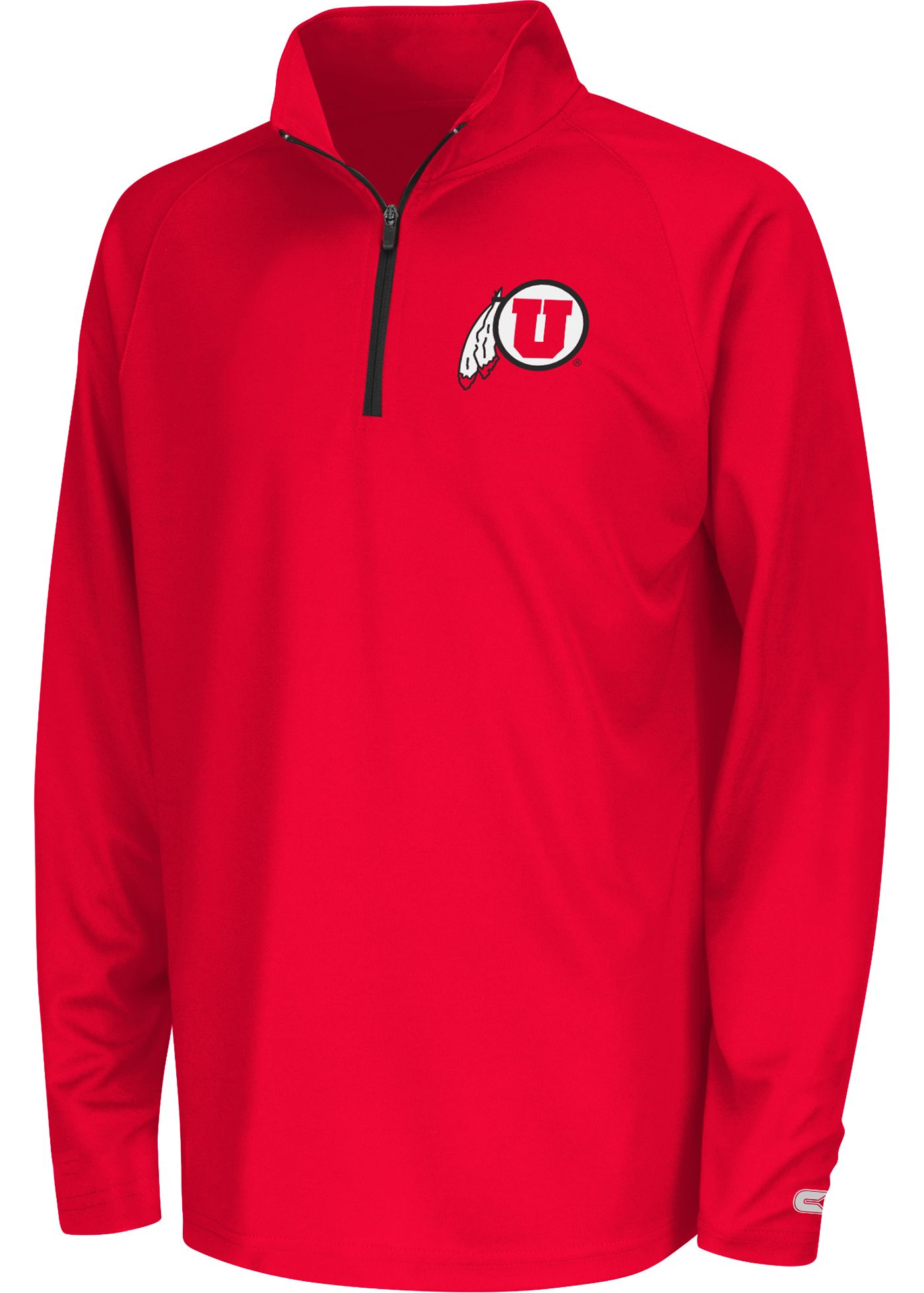 Colosseum Youth Utah Utes Crimson Draft Performance Quarter-Zip