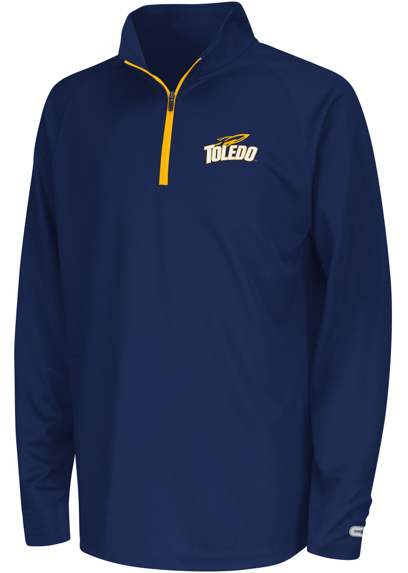 Colosseum Youth Toledo Rockets Midnight Blue Draft Performance Quarter-Zip