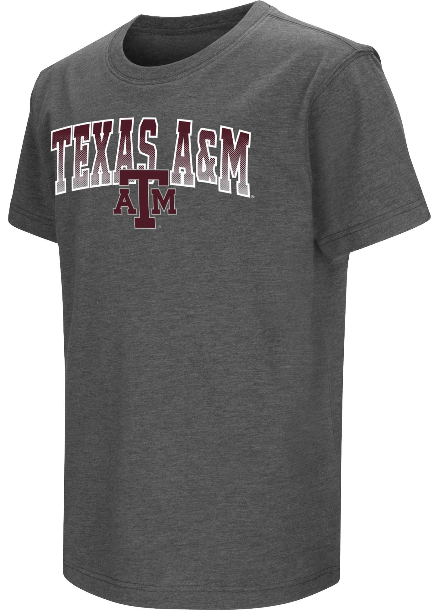 Colosseum Youth Texas A&M Aggies Grey  Dual Blend T-Shirt