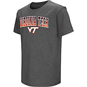 Colosseum Youth Virginia Tech Hokies Grey  Dual Blend T-Shirt